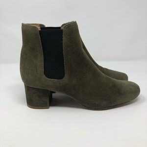 Madewell Green Suede Boots Size 8